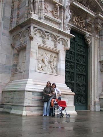 Door to Duomo Milan