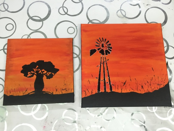 """Completed """"African Scenery"""""""